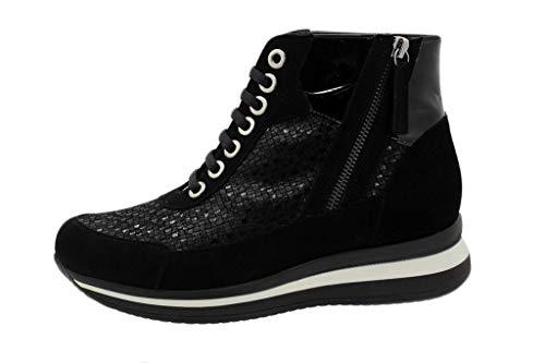 Ante Piesanto Negro Zapato I 18 185899 Botín Mujer Cómodo wTIIXSqf