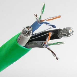 Strip Rg6 Quad Shield (InstallerParts 500 ft (Cat 5Ex2)/(RG6 Quad x2) Combo Cable)