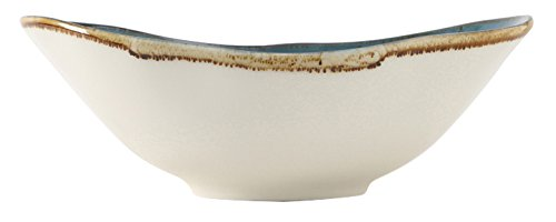 Tuxton Home THGGE403-4B Artisan Ceramic Bowl, 20 oz, Geode Azure Blue