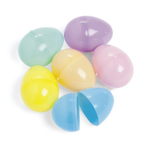 Easter Eggs - Plastic pastel Egg Assortment (144 pc) Fillable -