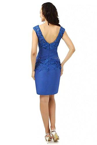 Fuer Promkleider Mini Abendkleider Lila Spitze Hochzeits Kurz Blau Satin Damen Charmant Brautmutter Dunkel Royal Kleider Formale xawY0q7WUz