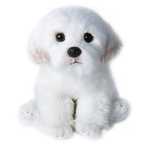 (24cm Cute Small White Bichon Frise Stuffed Dog Plush Toy Simulation Pet Fluffy Baby Doll Birthday Children Gift Buy g)