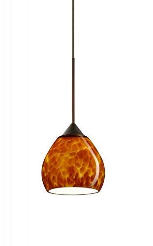 Tay Tay 1 Light Mini Pendant Finish: Bronze, Bulb Type: LED, Shade Color: Amber Cloud ()