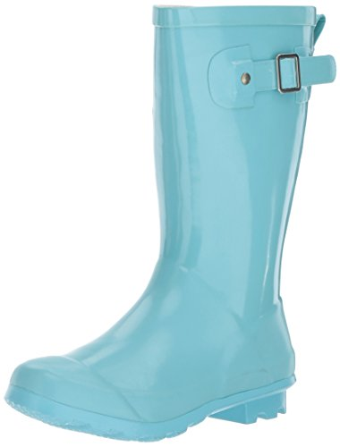 Western Chief Girls Waterproof Classic Youth size Rain Boots, Aqua, 3 M US Little Kid