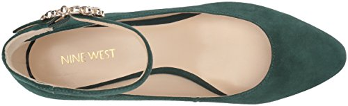 Nove West Womens Bartilly Pump In Pelle Scamosciata Verde Scuro
