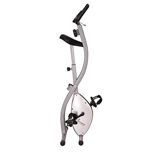 Sunny Health & Fitness SF-B2605 Folding Magnetic Upright Exercise Bike, Grey