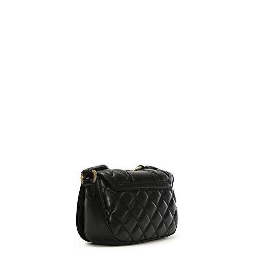 Love Moschino Borsa a tracolla nero trapuntato piccolo Akita Black Leather Para La Buena Línea La Salida Más Reciente Barato Y Agradable QQ2mjg