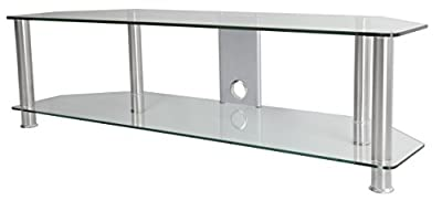 """AVF Media Component TV Stand with Cable Management for up to 65"""" TVs"""