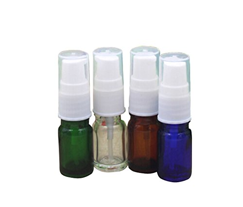 Cream Pump Pack - TOPWEL 5ml/10ml Empty Refillable Glass Cream Lotion Pump Bottle-Pack of 6 (5ML, Brown)