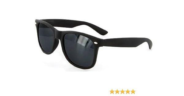 54f9c6a625aa7 Amazon.com  Rubberized Modified Wayfarer Sunglasses (Matte-Black Smoke)   Clothing