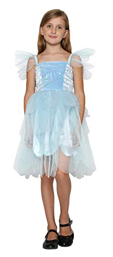 Tinkerbell Tutu Dress (Girls Princess Tinkerbell Long Dress Fairy Wings Halloween Costume (2-4 Years,)