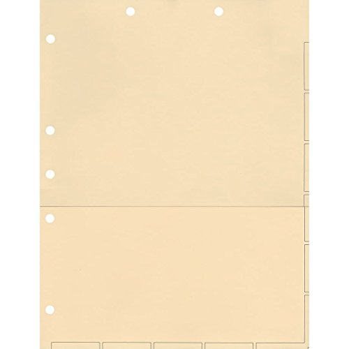 Folder Fasteners Pockets Tabs Inserts - Medical Arts Press Match Chart Divider Sheets with Pocket- Manila, Large Tab (50/pkg) (52364)