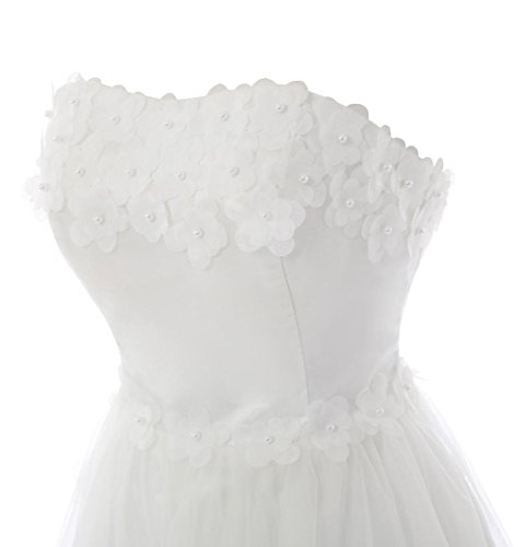 YiYaDawn -  Vestito  - linea ad a - Donna bianco 44