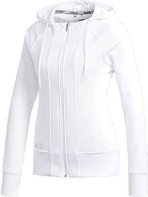 adidas Heather Hoodie Veste de Golf, Femme, Blanc, M: Amazon