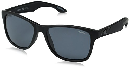 O'Neill Shore 127p Polarized Wayfarer Sunglasses, Matte Black/Solid Smoke, 54 - Sunglasses Oneill