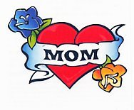 Mom Heart & Flowers Temporary Tattoos (3-Pk) | Skin Safe | MADE IN THE USA| Removable