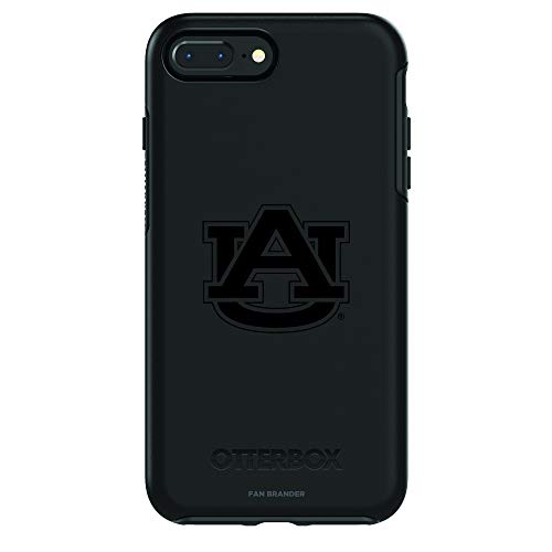 Fan Brander NCAA Black Phone case with Black Logo, Compatible with Apple iPhone 8 and iPhone 7 with OtterBox Symmetry Series (Auburn Tigers)