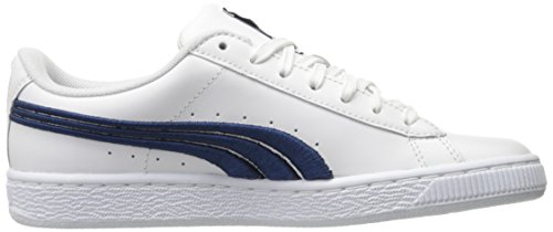 free shipping latest collections PUMA Men's Basket Classic Badge Fashion Sneaker Puma White-true Blue pick a best cheap online 0AgjY4