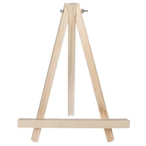 Olymstore 9 inch Artist Studio Painting Easel Wood Tripod Tabletop Display - Wood Tripod Stand