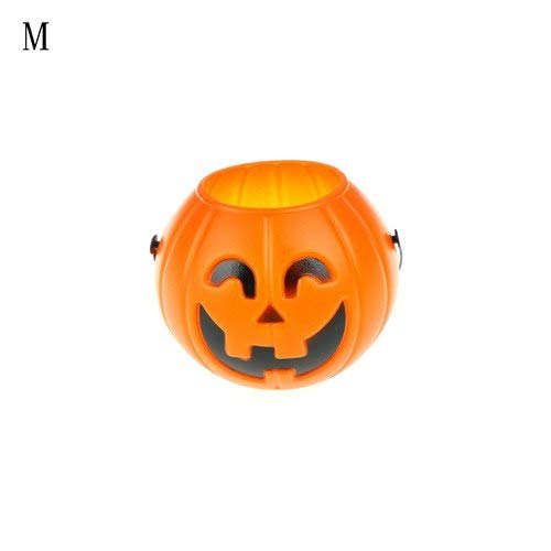 Party Diy Decorations - Halloween Pumpkin Candy Carry Holder Jar Jug Barrel Party S M L 3sizes Trick Treat Loot Sweet - Decorations Party Party Decorations Bottle Candy Halloween Treat Pumpkin ()