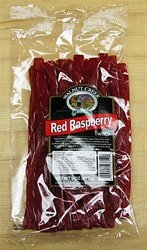 Old Fashioned Red Raspberry Twists Licorice Sticks by Walnut Creek