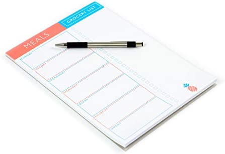 Sweetzer & Orange Meal Planner Pad | 7x10 inch Notepad for Organized Weekly & Daily Planning | Tear-Off Grocery List Checklist for Convenient Shopping | Magnetic Notepads for Refrigerator Door 2