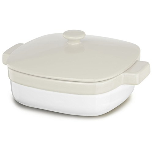 KitchenAid KBLR42CRAC Streamline Ceramic 4.2-Quart Casserole Bakeware - Almond Cream