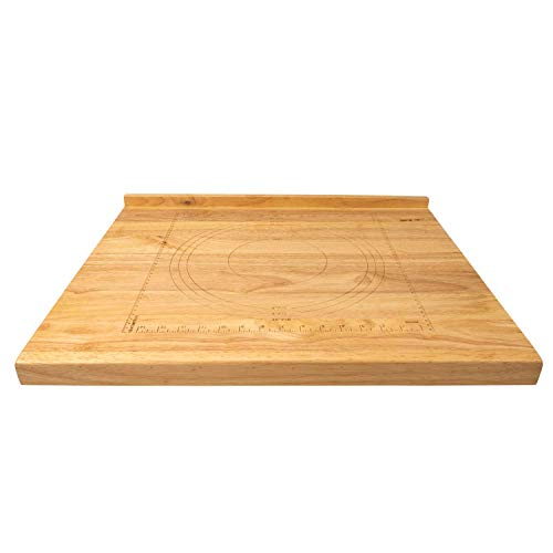 Zelancio Reversible Wooden Pastry Board with 10-Inch Ruler, Includes, 9-Inch and 10-Inch Pie Template, with Front and Back lip by Zelancio (Image #2)