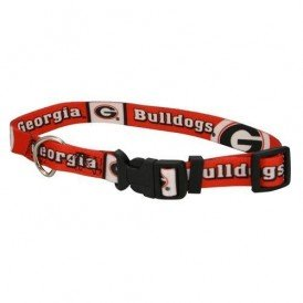 Georgia Bulldogs Large Pet Dog Collar (Large)