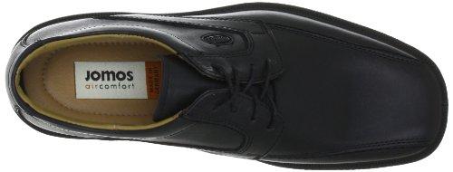 Jomos Strada 2 204204 23 - Zapatillas clásicas de cuero para hombre, color negro, talla 48