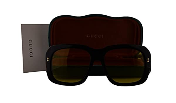 Gucci GG0049S gafas de sol w/lente amarilla 002 GG 0049S mujer la Habana Grande: Amazon.es: Ropa y accesorios