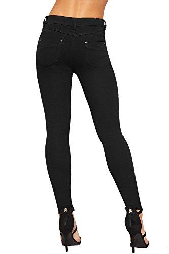 Maigre Afflig WEARALL Dchirs 34 Toile Genou Nouveau 44 Dames Jambe Noir Jean Pantalon Pantalon Jeans Femmes De xSw0qwnHf