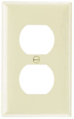 Legrand - Pass & Seymour SP8ICP10 Smooth Wall Plate, Plastic For Single Gang Receptacle,  Ivory, 10-Pack