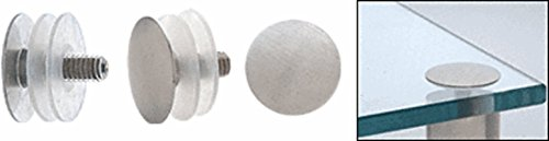 CRL Brushed Stainless Low Profile Standoff Cap Assembly for 1-1/4