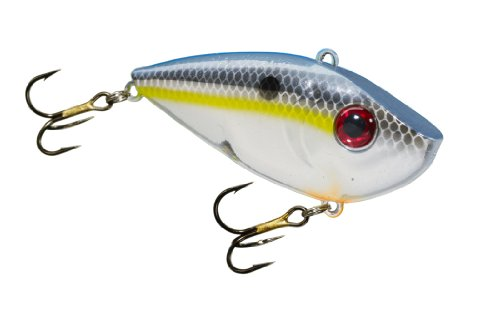 Strike King Redeye Shad Bait (Chrome Sexy Shad, 0.5-Ounce)
