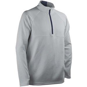 (Sun Mountain Thermalflex Long Sleeve Pullover - Platinum-Navy (Medium))