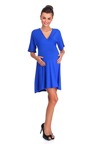 hi!mom Damen Kleid Grau Graphitgrau Blau - Blau MIyral9j