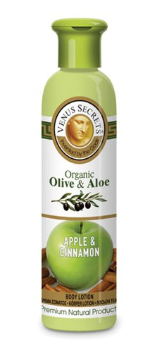 Therapy Lotion Organic Olive Oil (Aromatherapy / Body Lotion / Organic Olive & Aloe with Apple & Cinnamon / 250ml / Body Moisturiser For Dry Skin / Provides Rich And Lasting Hydration / Restores Natural Moisture Of The Skin)