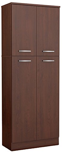 South Shore 4Door Storage Pantry with Adjustable Shelves Royal Cherry