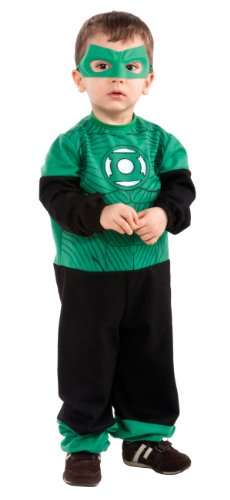 Green Lantern Hal Jordan Ez-On Romper Costume, Black/Green, Infant