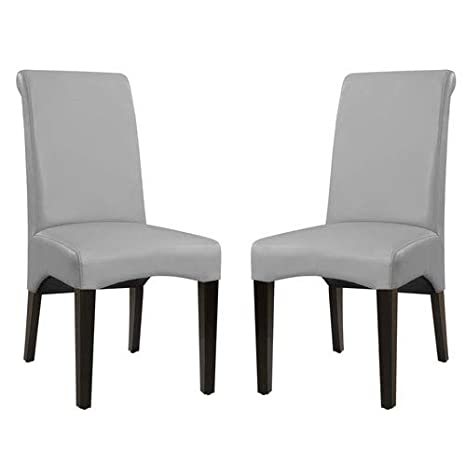 Amazoncom Emerald Home Briar Ii Cement Gray Upholstered Dining - Curved-upholstered-dining-chair
