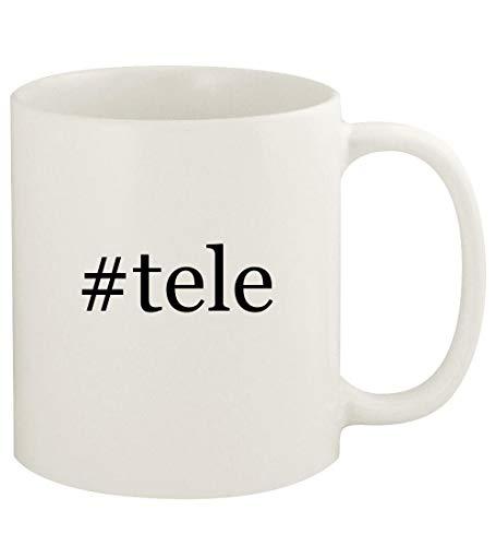 #tele - 11oz Hashtag Ceramic White Coffee Mug Cup, White