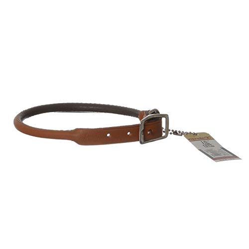 Circle T Leather Round Collar - Tan - 16 Neck
