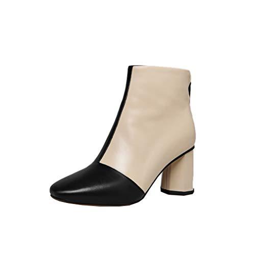 Heel 7CM Square Boots Black 5 Women 3 Toe vaxzst Vaneel Block UK Zipper xI6YFqnw8