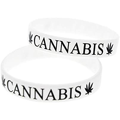 Sxuefang Silicone Wristbands With Sayings Cannabis Leaf Punk Silicone Bracelets For Kids Motivation Set Pieces Estimated Price £29.99 -