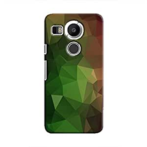 Cover It Up - Green and Red Pixel Triangles Google Nexus 5X Hard Case