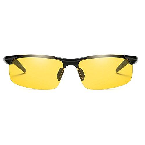 Black Glasses Glasses Glasses Sunglasses and Night Fashion Men's Sun weather Sunglasses Frame Use Coolest Daytime Driving night All Polarized wqZRx06xI