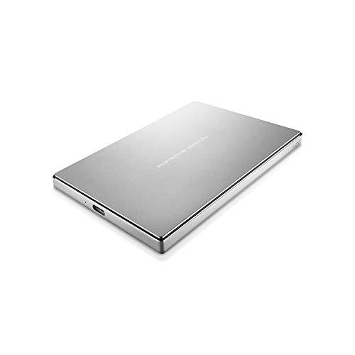 LaCie Porsche Design 1TB USB-C Mobile Hard Drive, Silver + 2mo Adobe CC Photography (STFD1000400) (Renewed) ()