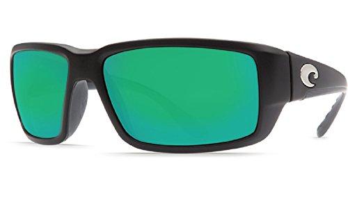 Costa Del Mar Fantail 580G Black/Green Mirror Polarized Lens 60mm Sunglasses
