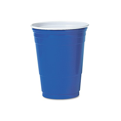 SOLO Cup P16BRL Plastic Party Cold Cups, 16 oz., Blue (Pack of 50)